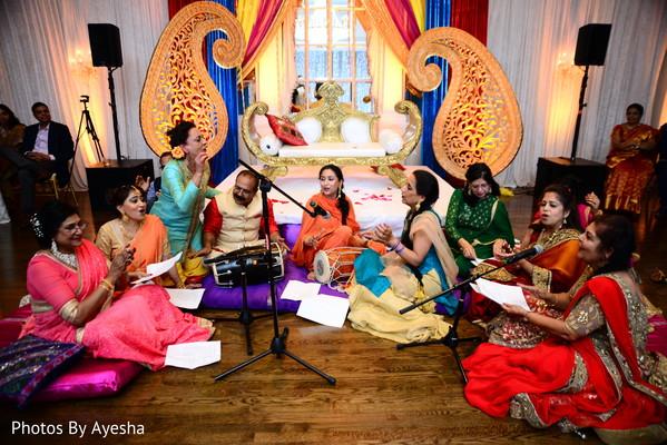 Hindu performance in Hindu wedding reception.