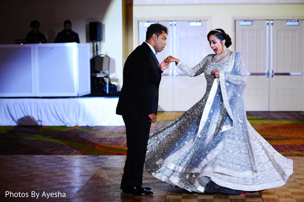 Maharani and her Raja dancing in the performance.