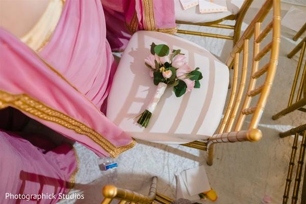 Pale pink Indian Bridesmaids roses bouquet.