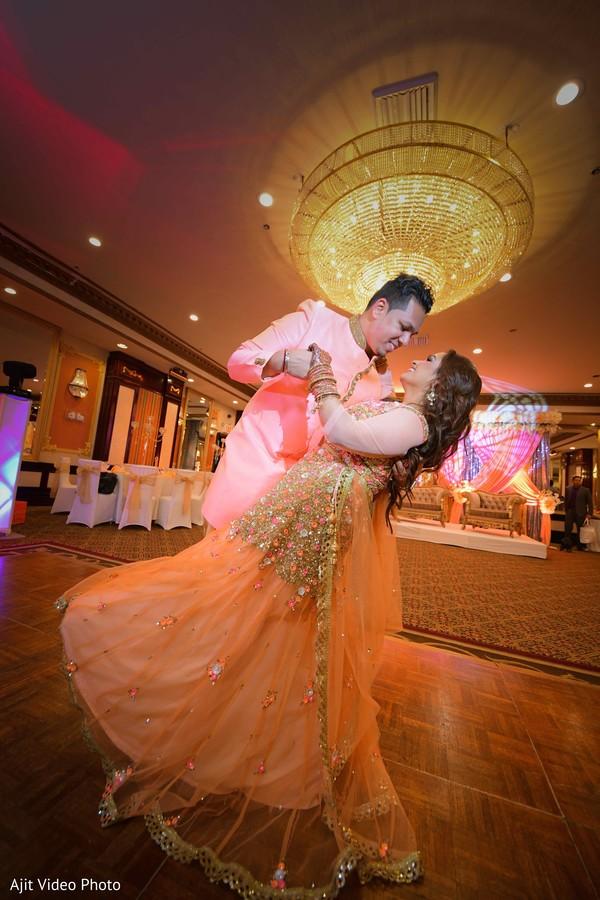 Indian couples engagement dance capture.