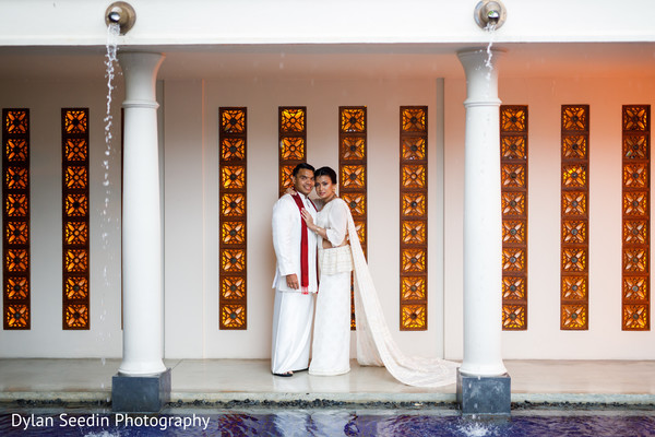 Indian groom and Maharani during the photoshoot.