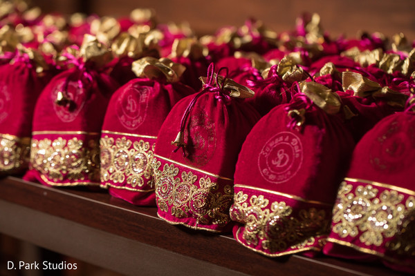 Personalized Indian Wedding favor bags.