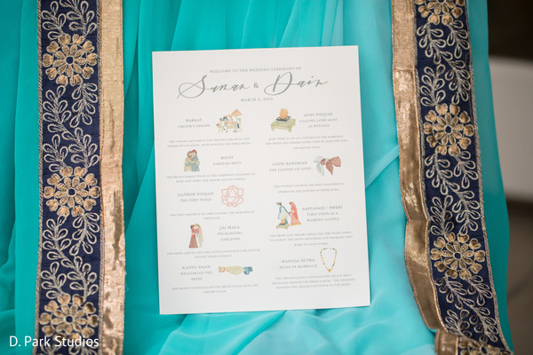 Indian wedding ceremony rituals printed guide.