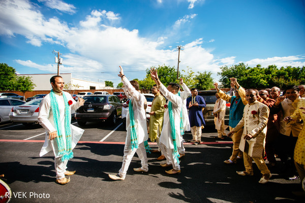 Indian wedding baraat moments.