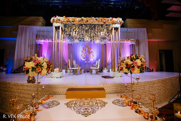 Indian wedding floral decor details.