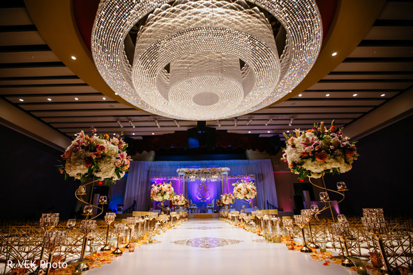 Indian wedding ceremony decor details.