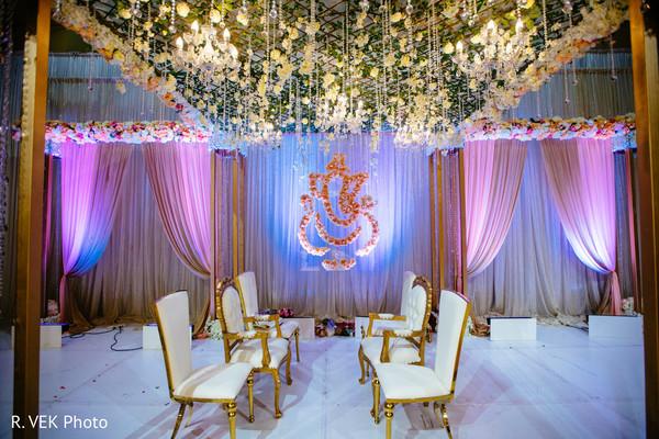 Mandap decor design for the Indian wedding.
