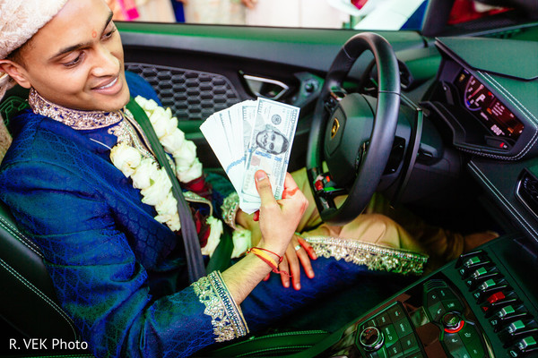 Indian groom on his ride after the ceremony.