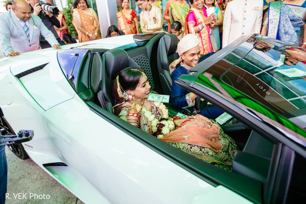Maharani and Indian groom on their ride towards the reception.