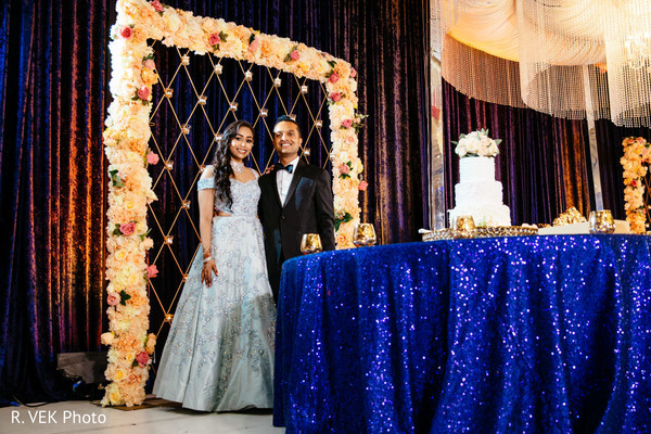 Indian newlyweds reception attire ideas.