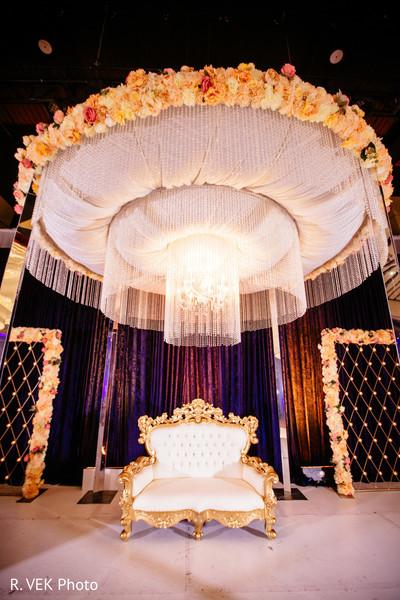 Indian wedding reception lighting decor ideas.