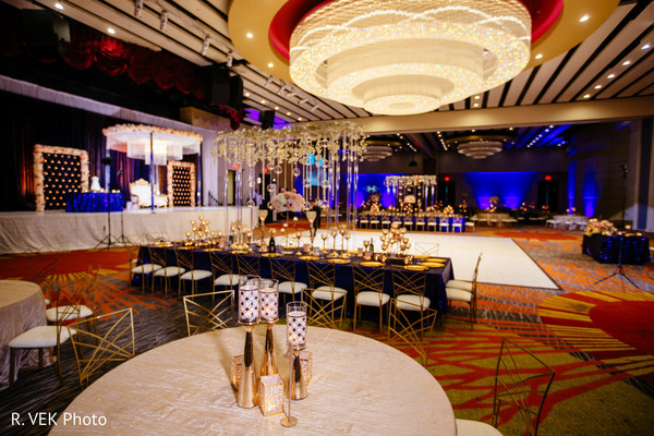 Indian wedding reception venue decor.