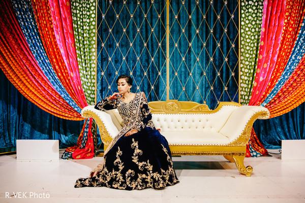 Maharani during the Indian wedding photoshoot.