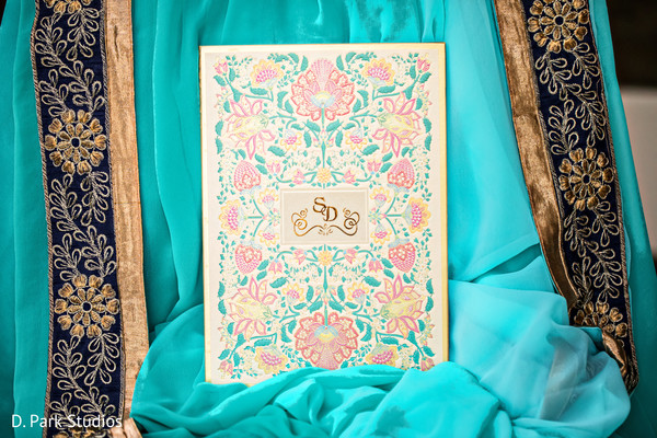 Indian wedding golden letters personalized invitation.