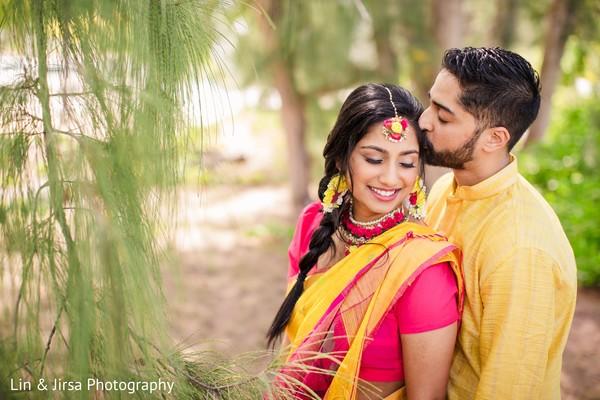 Maharani and groom sharing a moment