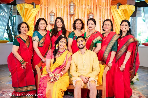 Maharani, groom and relatives after the Gaye Halud