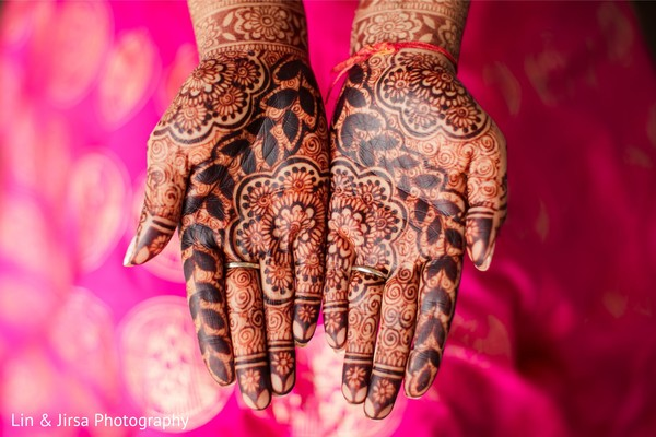 Maharani's henna stained hands