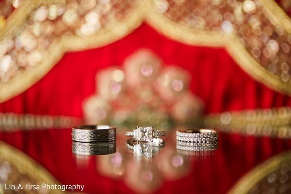 Indian wedding rings used in the Hindu wedding.