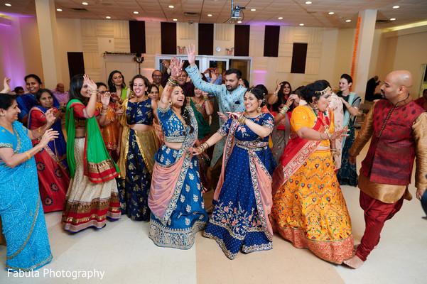 Indian guests enjoying the Sangeet.