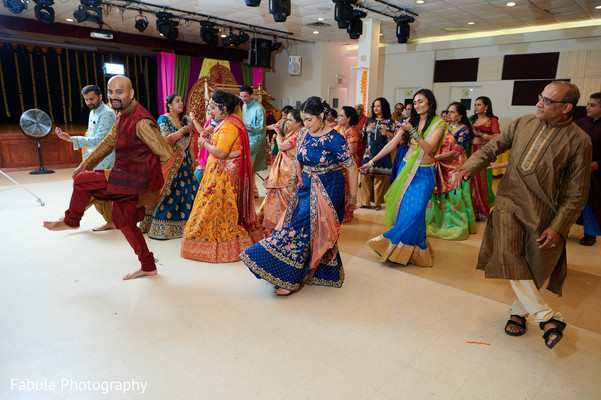 Indian guests dancing in Sangeet.