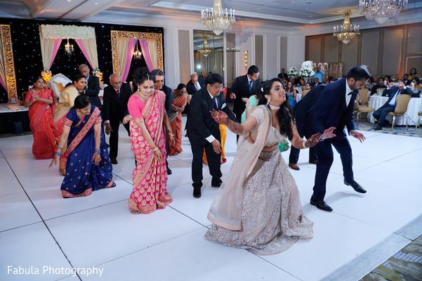 Maharani and raja performance with guests.