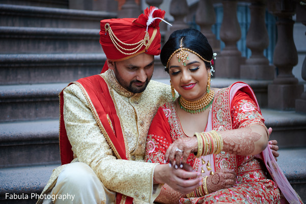 Indian couple in a tender photo shoot.