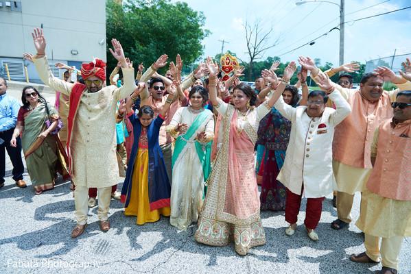 Indian groom during Baraat parade.