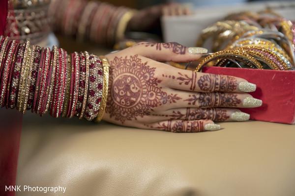 Golden Indian bridal nails color.