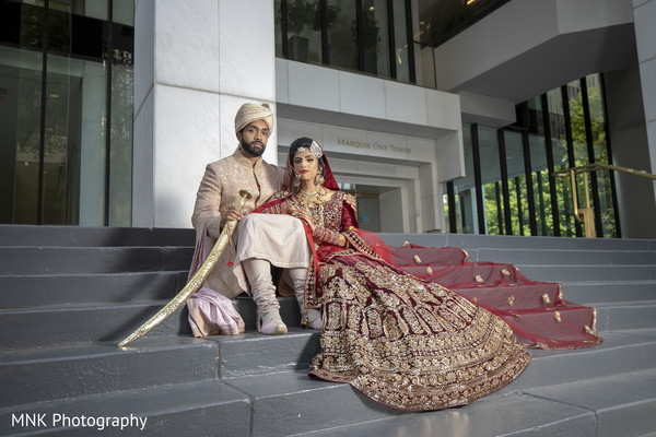 Traditional south Indian bride and grooms ceremony fashion.