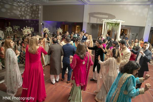 Indian wedding party celebration capture.