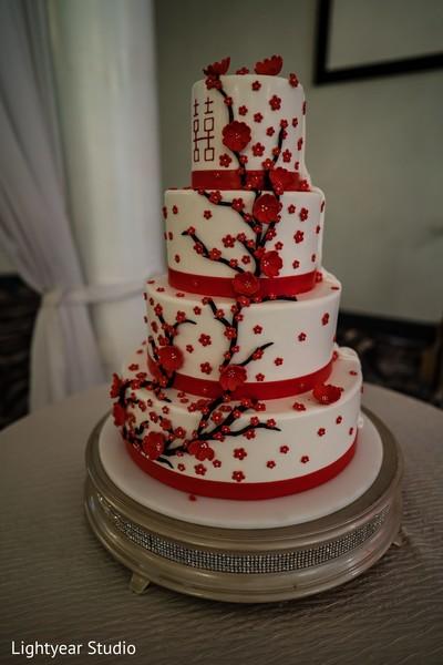 Indian Chinese wedding cake decorations.