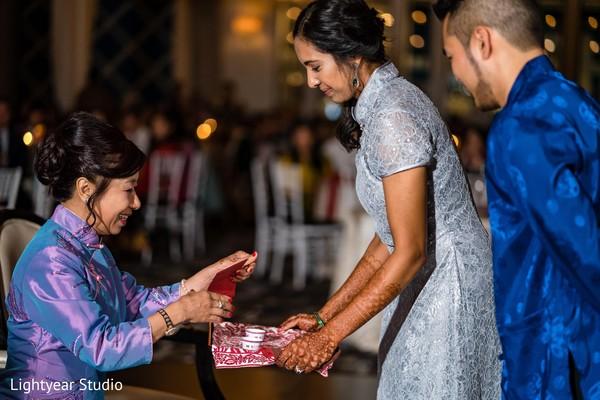 Maharani sharing tea with relative.