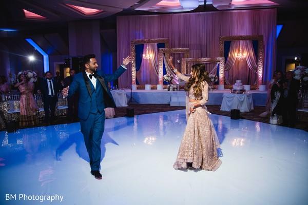 Indian couple's reception choreography