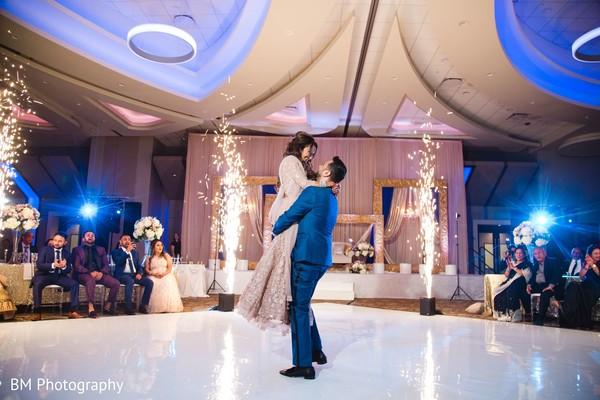 Maharani and Indian groom enjoying their first dance