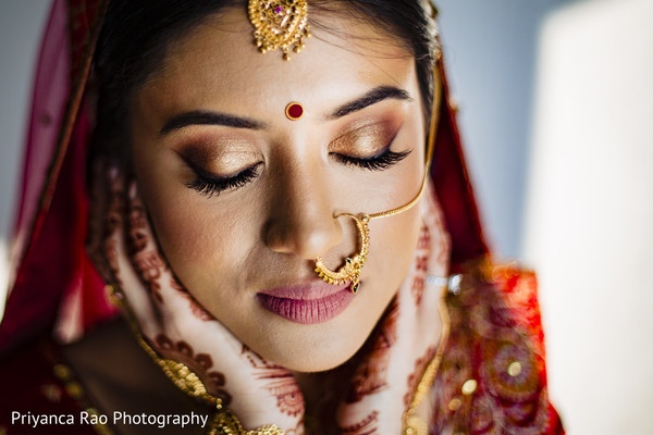 Maharani's make up, hair and jewelry ready for the ceremony