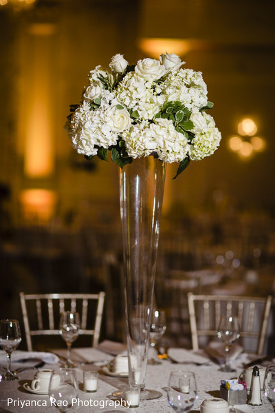 Flower decoration used as table center.