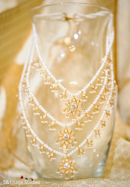 Indian bridal kundan necklace of Christian ceremony.