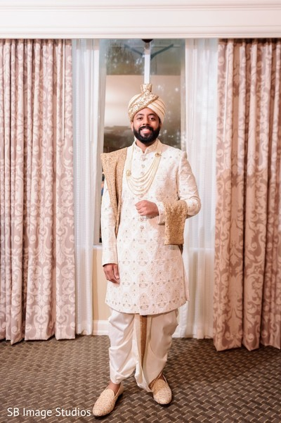 Indian groom ready for his wedding ceremony.