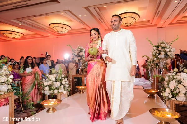 Maharani walking down the aisle.