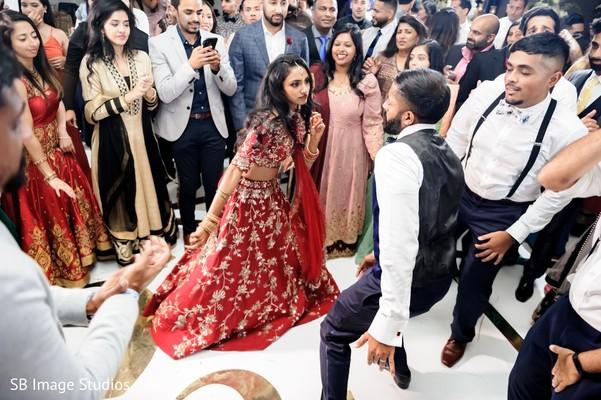 Maharani and Raja dancing during reception.