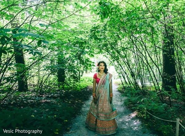 Maharani walking through the forest