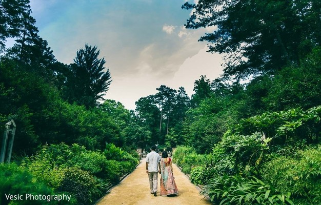 Indian couple walking together