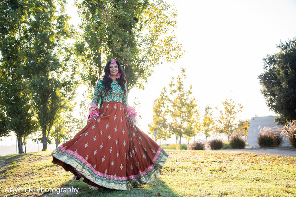 Indian bride outdoors photo shoot.