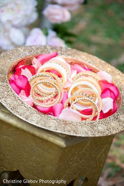 Details of Maharani's jewelry bangles.