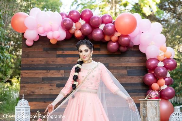 Maharani wearing the traditional bridal saree.