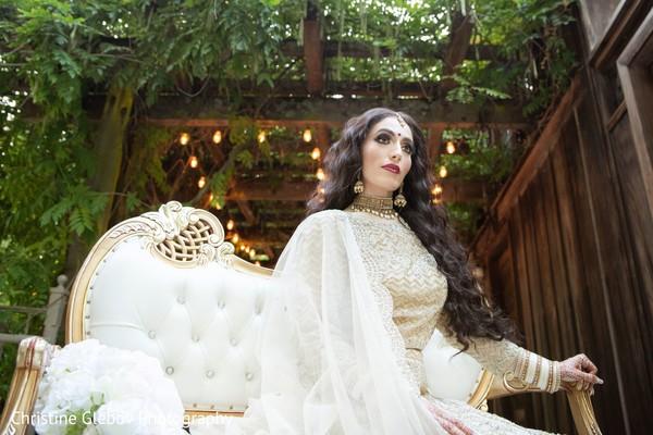 Indian bride's stylized photoshoot.