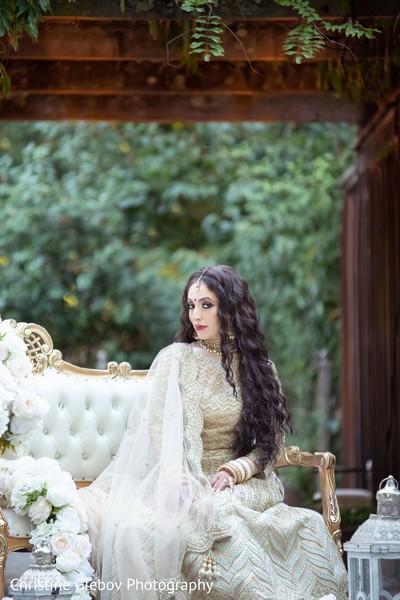Maharani posing for the stylized photoshoot.
