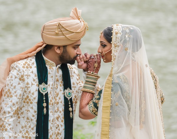 Indian bride and groom special photo session capture.