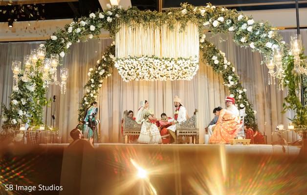 Traditional Indian wedding ceremony celebration.