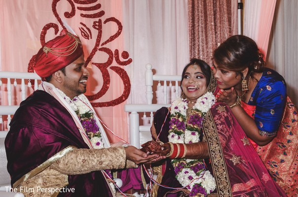Raja and Maharani during the Indian wedding marriage rituals.